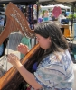 Harpist at the market, May 31
